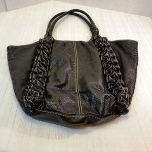 EUC. Marc Ecko Shoulder Tote Black Vegan leather.